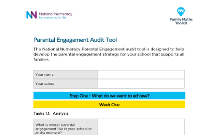 National Numeracy Parental Engagement Audit Tool