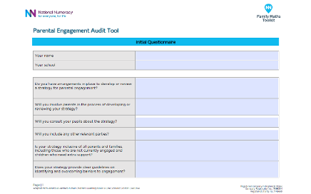 Parental Engagement Audit Supporting Documents